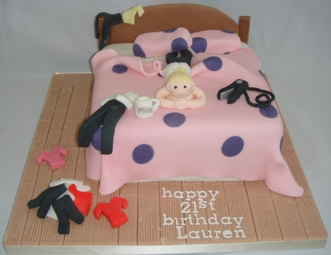Girls Bedroom Birthday Cake