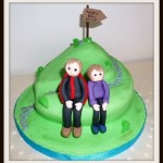 Hiker birthday cake