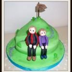 Hiker birthday cake