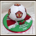 Manchester United football birthday cake