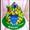 2 tier sonic birthday cake