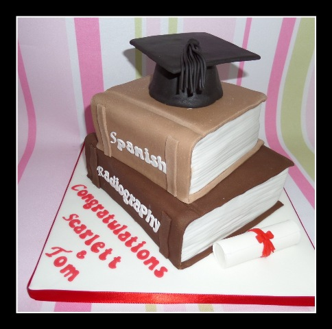 Graduation two book cake