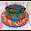 Hero turtles birthday cake